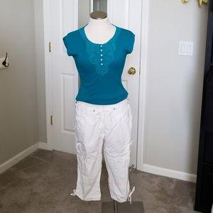 Cotton Capri Cargo Pants Size 12